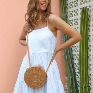 Urban Outfitters| |Round Wicker Purse